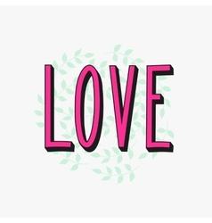 Romantic love simple lettering vector