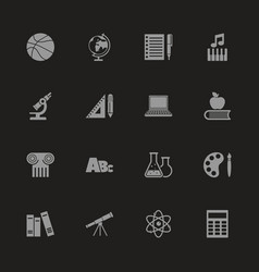 School subject - flat icons vector