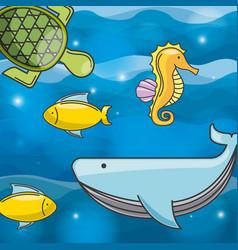 Sea concept design vector