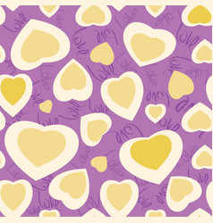 Seamless texture with funny hearts vector