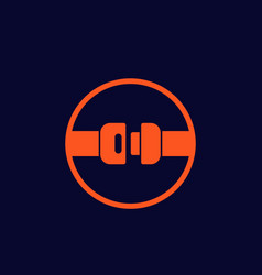 seat belt icon sign vector image