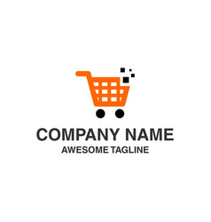 shopping logo shopping icon store icon online vector image