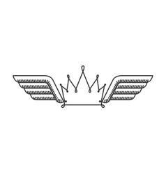 silhouette with two wings and crown vector image