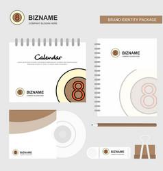 snooker ball logo calendar template cd cover vector image