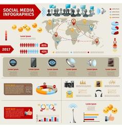 Social Media Infographics vector