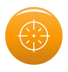 Specific target icon orange vector