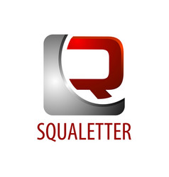 square initial letter r logo concept design 3d vector image