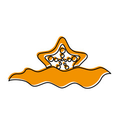 Starfish in water icon vector