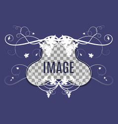 template for photo with grape weaving vector image