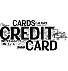 the basic credit card types text background word vector image