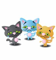 Three little kittens vector