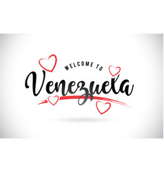 Venezuela welcome to word text with handwritten vector