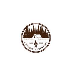 vintage logos for camper logos design logo vector image