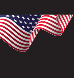 waving american flag design vector image