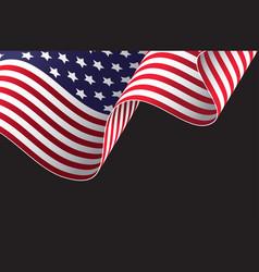 waving american flag design vector image