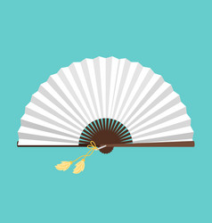 white open fan isolated on background vector image