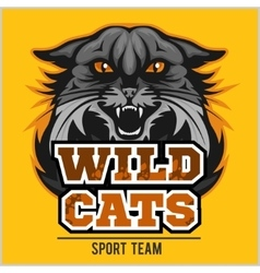 Wild cats sport team - logotype emblem vector