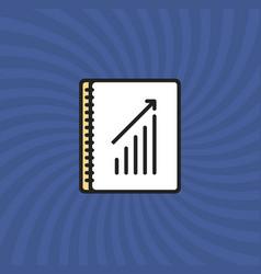 document graph icon simple line cartoon vector image