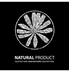 floral logo 12 grunge vector image vector image