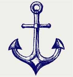 Anchor sketch vector image