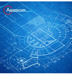 Architectural blueprint vector image vector image