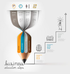 Business education pencil Infographics vector image vector image