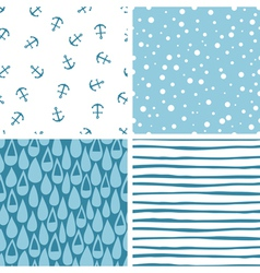 Doodle abstract patterns part 3 vector image vector image