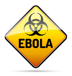 ebola biohazard virus danger sign with reflect vector image