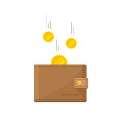 Fund savings cash earnings financial success vector