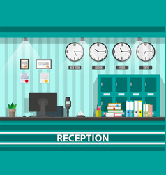 interior of modern reception vector image