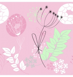 pink seamless pattern with flowers vector image vector image