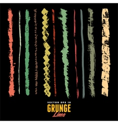 A set of grunge watercolor and ink strokes vector image