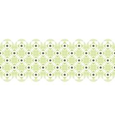 Abstract damask swirls horizontal seamless pattern vector image vector image