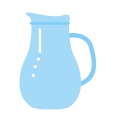 clay jug isolated on white vector image vector image