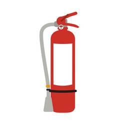 fire extinguisher with blank label icon image vector image