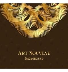 Geometric design element in art nouveau style vector image