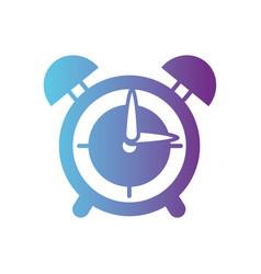 line round clock alarm object design vector image vector image