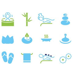 Set of icons for spa wellness and massage vector image vector image
