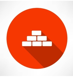 bricks icon vector image vector image