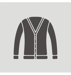 Cardigan icon on background vector image vector image