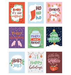 christmas party invintation card design vector image