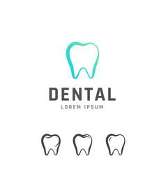 dental emblem design vector image