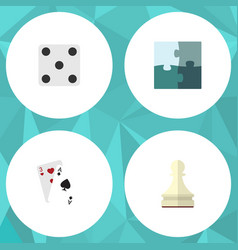 flat icon play set of ace pawn backgammon and vector image vector image