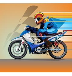motorcycle racing vector image