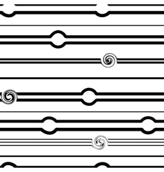 Striped and spiral black seamless pattern vector image vector image