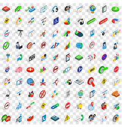 100 search icons set isometric 3d style vector