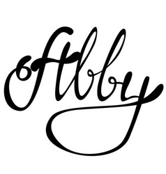Abby name lettering vector