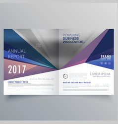 Abstract bi fold business brochure design template vector