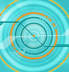 Abstract tech circle technology background vector