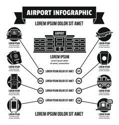 Airport infographic concept simple style vector